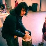 09 Jason Lam Grinding Corn 150x150 Free Corn Cakes at Arts@Renaissance