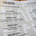 02 Harefield Road brunch menu
