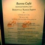 04 Bunna Cafe menu Bushwick Block Party 2012 150x150 Bushwick Block Party 2012