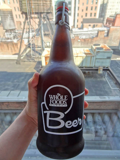 Whole Foods growler of beer - Saison Liaison