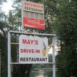 02 Mays sign 150x150 Tio Wally Eats America: May's Drive In