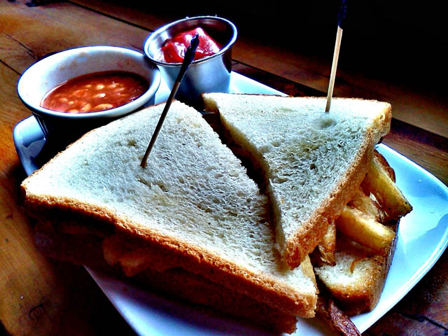 Chip Butty French Fry Sandwich