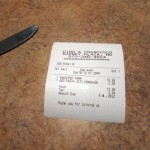 11 Dinos receipt 150x150 Tio Wally Eats America: Dino & Francesco's Pizza and Family Restaurant