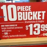 10 ten piece bucket KFC sign 150x150 KFC Gameday Bucket go Boom!