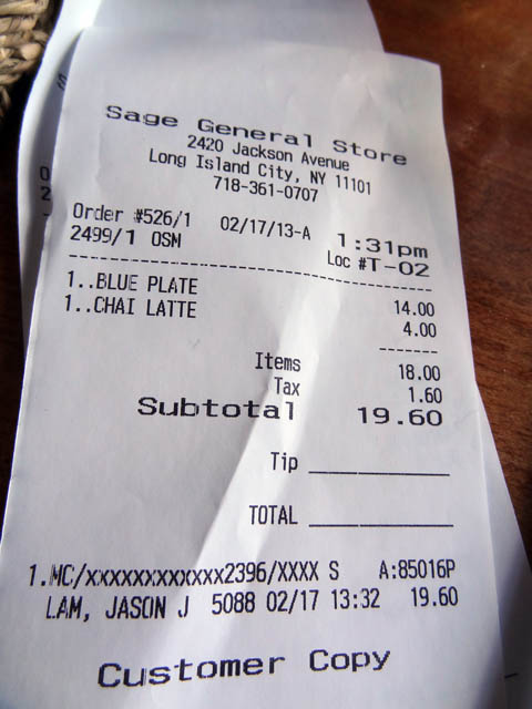 07 receipt sage general store me so hungry