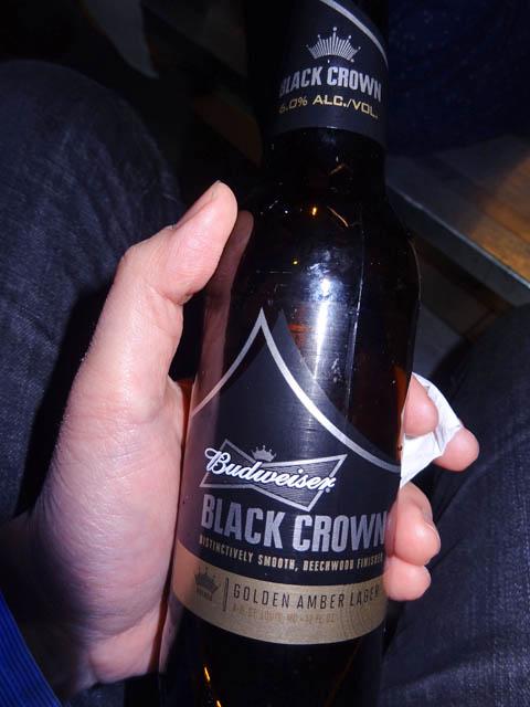 Budwesier Black Crown beer