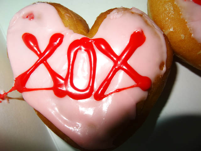 Dunkin Donuts Heart shaped Valentines doughnuts