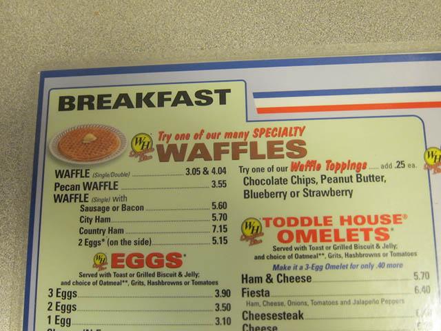 Waffle House Menu With Prices Waffle House Menu