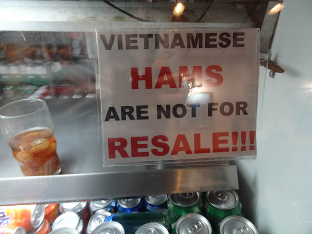 08 Vietnamese Hams are not for Resale - Pho Bang