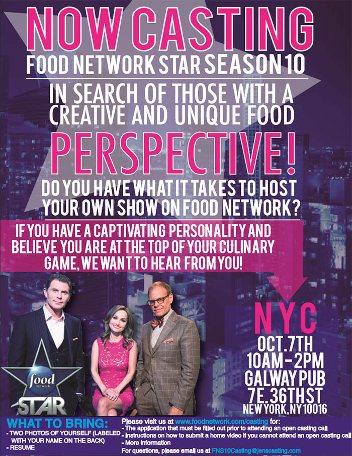 Casting Food Network Star