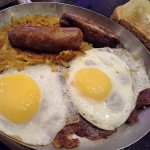 03 Corned Beef Hash with Eggs and Sausage - Wavery Diner