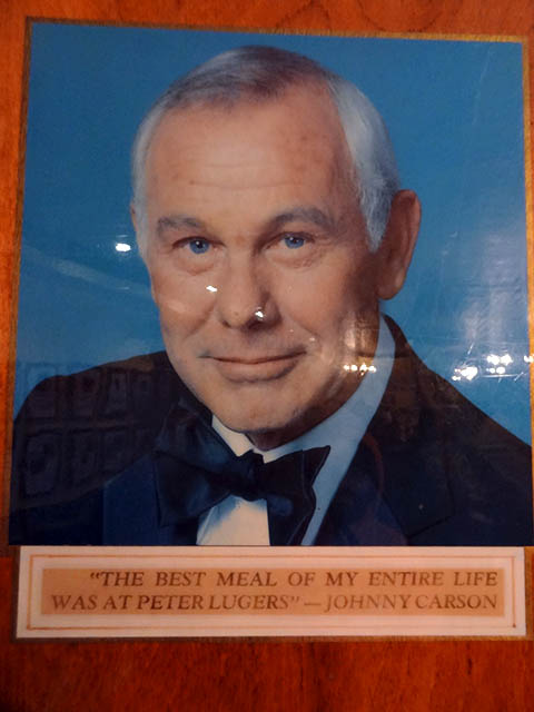 10 Johnny Carson Peter Luger Peter Lugers Lunch Burger