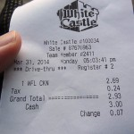 10 White Castle receipt 150x150 White Castles Chicken & Waffle Sandwich
