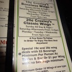 03 Wings menu Croxleys Abbey 150x150 Croxleys Abbeys 10cent Wings