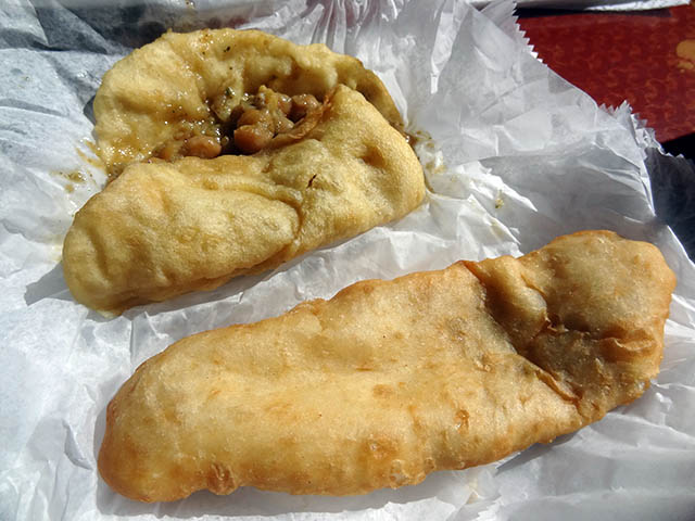 06 Doubles and Salmon Pie - Ali's Trinidad Roti Shop
