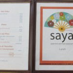 07 Saya menu 4 150x150 Tio Wally Eats America: Saya Restaurant