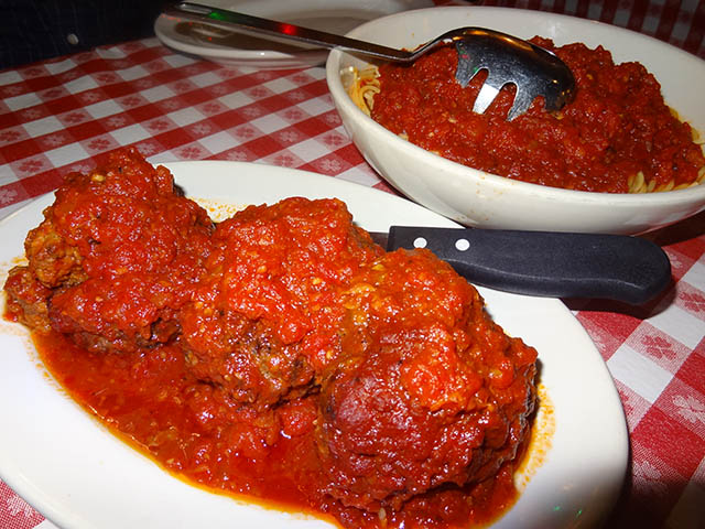 05 Half Pound Meatballs and Small Spaghetti Marinara - Buca di Beppo