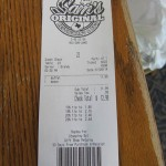 32 Sams receipt 150x150 Tio Wally Eats America: Sam's Original Restaurant & BBQ