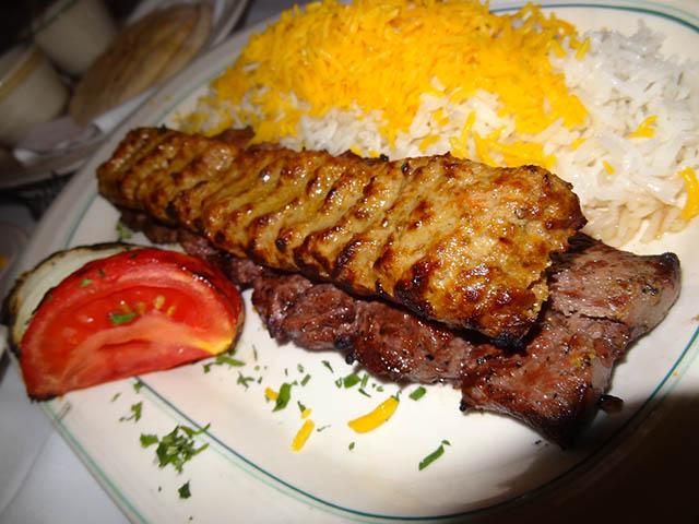 01 Combination Kebob Platter Barg & Koobideh - Ravagh Persian Grill