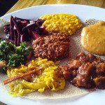 01 Bunna Cafe Ethiopian Feast Combination 150x150 Bunna Cafe Ethiopian Lunch Special