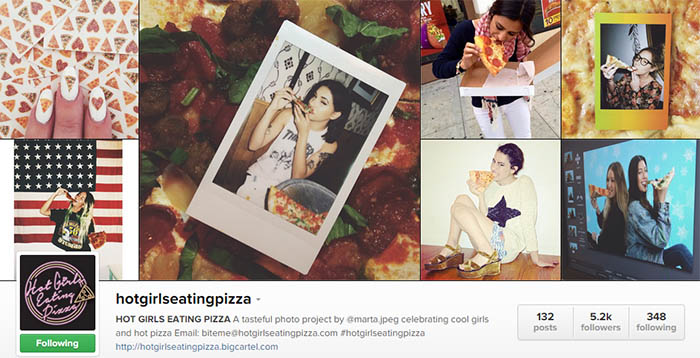 hotgirlseatingpizza Two Instagrams to Follow