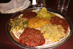 02 Taste of Sheba Combination Sampler - Queen of Sheba Ethiopian Restaurant NYC