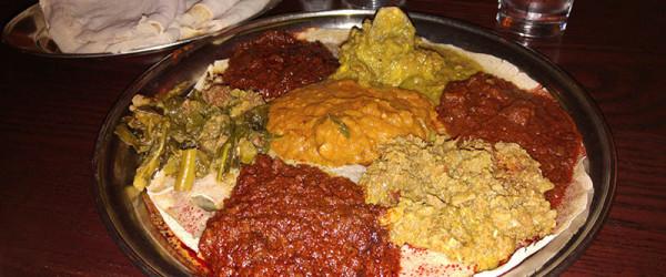 02 Taste of Sheba Combination Sampler - Queen of Sheba Ethiopian Restaurant NYC
