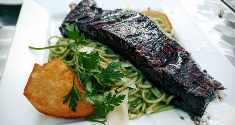 06 Skirt Steak with Green Basil Spaghetti - Chimu Brooklyn