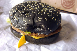 Burger King Black Halloween Burger