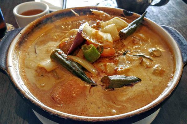 03 Nyonya Curry Fish Head Casserole - Nyonya Malaysian Restaurant NYC
