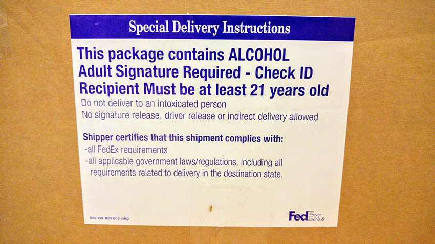01 FedEx Alcohol Special Delivery Instructions