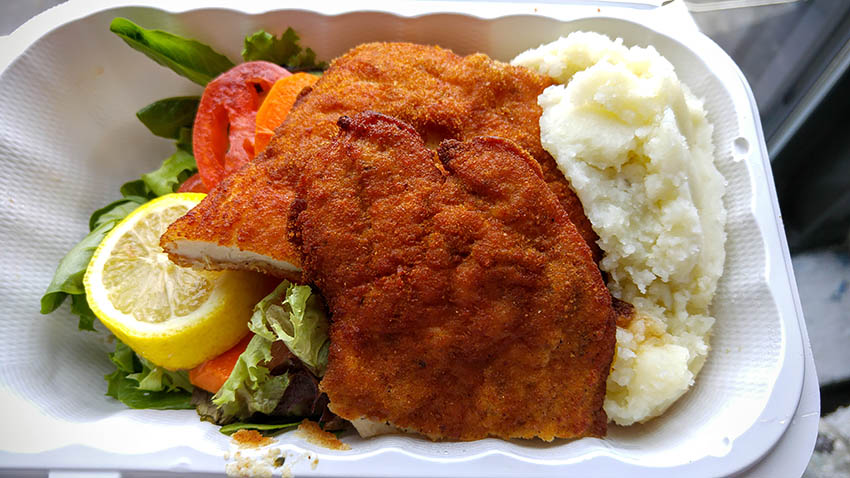 05 Chicken Schnitzel - Cafe Prague