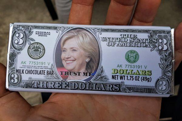 01 Crooked Hillary Clinton Chocolate Bar