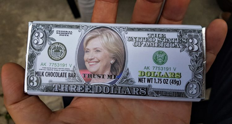 01 Crooked Hillary Clinton Chocolate Bar
